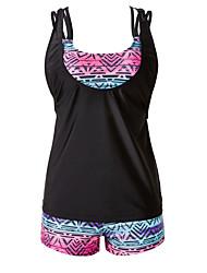 Women's Halter TankiniFloral / Sport Polyester Red / Gray