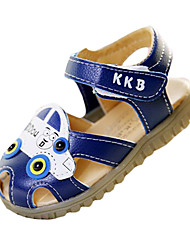 Boy's Sandals Summer Sandals / Round Toe PU Casual Flat Heel Others / Hook & Loop Blue / White Others