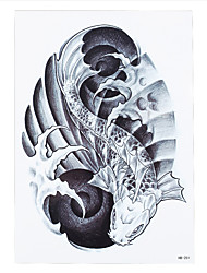 1pc Vortex Fish Picture Design Temporary Tattoo Sticker Waterproof Women Men Body Arm Back Art Tattoo HB-251