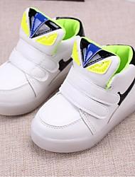 Unisex Sneakers Fall Comfort Athletic Flat Heel Magic Tape Green / Pink / White Sneaker