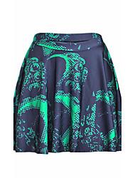 Damen Röcke - Sexy / Einfach Mini Polyester / Elasthan Dehnbar