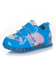 Unisex Sneakers Fall Leather Athletic Flat Heel Others Blue Green Pink