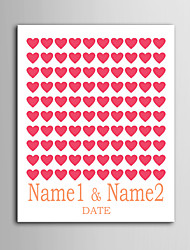 E-HOME®  Personalized Signature Canvas invisible Frame Print - Red Love