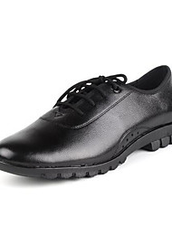 Men's Dance Shoes Leather Leather Modern / Dance Boots Oxfords / Sneakers Low Heel Practice