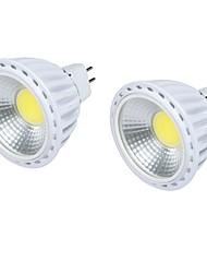6W GU5.3(MR16) Spot LED MR16 1 COB 450 lm Blanc Chaud Blanc Froid Décorative DC 12 V 2 pièces