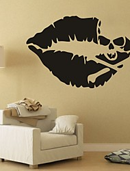 AYA DIY Wall Stickers Wall Decals Halloween Decoration Skull & Lips Type PVC Panel Wall Stickers 52*81cm