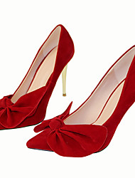 Women's Heels Spring / Fall Heels / Pointed Toe Fabric Party & Evening / Dress / Casual Stiletto Heel Bowknot Black /