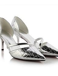 Homme-Extérieure-Vert / Blanc / Argent-Talon Aiguille-Talons-Chaussures à Talons-Cuir