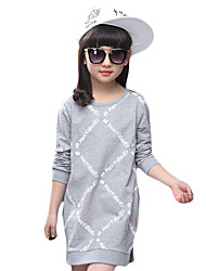 Girl's Casual/Daily Solid TeeCotton / Spandex Spring / Fall Black / White / Gray