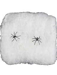 Halloween Props Spider Festival/Holiday Halloween Costumes White Solid More Accessories Halloween Unisex Cotton