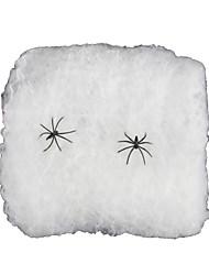 Artigos de Halloween Aranhas Festival/Celebração Trajes da Noite das Bruxas Branco Cor Única Mais Acessórios Dia Das Bruxas Unisexo