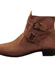 botas dos homens caem / tecido conforto de inverno ocasional calcanhar plana deslizamento-na sapatilha preta / marrom / cinza