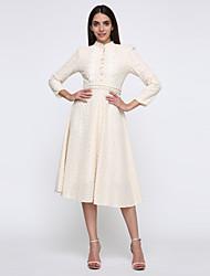 laço do vintage elegante vestido fino de incern®women