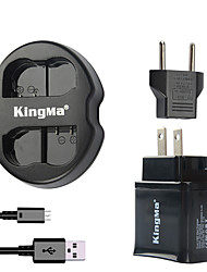 KingMa Dual USB Charger for Nikon Battery and Nikon D7000 D7100/1V1/D600/D600E/D600  with USB Adapter Plug Power