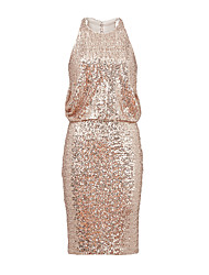 Cocktail Party Dress Sheath / Column Jewel Short / Mini Sequined with Sequins
