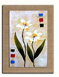Peint à la main Nature morte / Nourriture Peintures à l'huile,Modern Un Panneau Toile Peinture à l'huile Hang-peint For Décoration