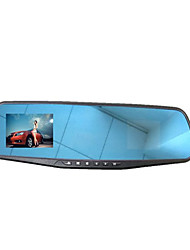 2.6 Inch Wide-Angle Rearview Mirror Night Vision Blue Screen Driving Recorder