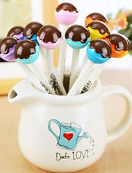 12 Stück Schokolade Lutscher schwarzer Tinte Gelstift