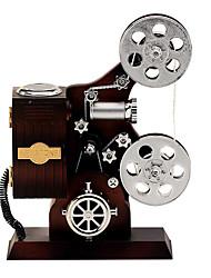 forma projector para Elise música caixa de plástico preto / prata