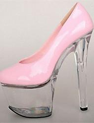 Feminino-Saltos-Plataforma Sapatos clube Light Up Shoes-Salto Agulha Plataforma Salto Alto de Cristal-Preto Amarelo Rosa Vermelho Dourado