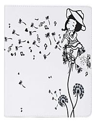 Pour Porte Carte Coque Coque Intégrale Coque Pissenlit Dur Cuir PU Apple iPad Mini 4 / iPad Mini 3/2/1