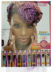 Jumbo Braids Green Three Tones Ombre Synthetic Hair Braids 18inch Kanekalon 115g