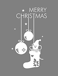 Wall Stickers Wall Decals Style Christmas Garland Stocking PVC Wall Stickers