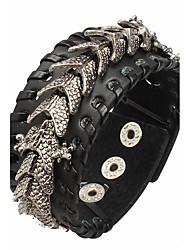Bracelet Bracelets en cuir Alliage / Cuir Forme Géométrique Rock / Mode / Style Punk / Ajustable Quotidien / Décontracté Bijoux Cadeau