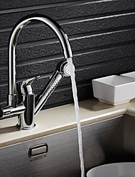 Contemporary Pull-out/­Pull-down Centerset Pullout Spray Kitchen faucet