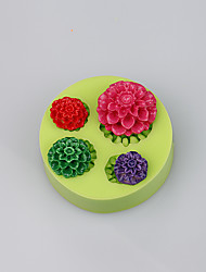 FDA LFGB cute mini silicone rose cup cake chocolate mold fimo clay tools