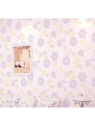 Non-woven Warm Flowers Living Roon Bedroon Decor Wallpaper Country Style Murals of Wall Paper Roll