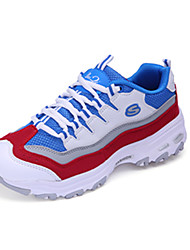 Women's Sneakers Spring / Fall Round Toe Tulle Athletic / Casual Flat Heel Lace-up Blue / Gray / Bla