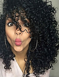 Black Color Curly European Synthetic Wigs For Afro Women