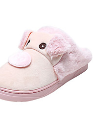 Unisex Slippers & Flip-Flops Winter Slippers Customized Materials Casual Flat Heel Others Pink / Purple / Gray