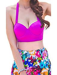 Venus Queen Women's Steel prop purple Floral High Rise pants bikini