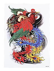 1pc Oriental Traditional Women Men Temporary Body Arm Sleeve Art Phoenix Tattoo Sticker Design Beauty Makeup HB-298