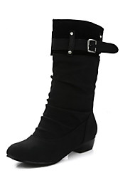 Women's Boots Fall / Winter Riding Boots Leatherette Outdoor / Dress / Casual Low Heel Others Black / Brown Cycling