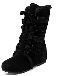 Feminino-Botas-Coturno Inovador Botas de Cowboy Botas de Neve Botas Cano Curto Botas Montaria Botas da Moda Botas de Motocicleta-Rasteiro-