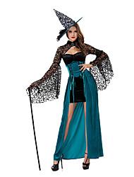 Costumes Plus de costumes Halloween Bleu Ciel Couleur Pleine Térylène Robe / Plus d'accessoires