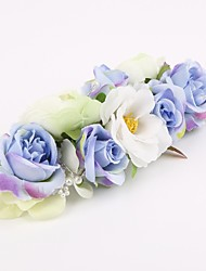 Femme Tissu Casque-Mariage Occasion spéciale Peigne Fleurs 1 Pièce