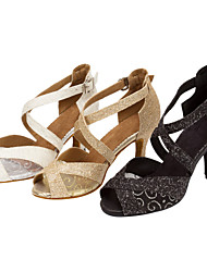 Customizable Women's Ballroom Salsa Dance Shoes Sparkling Glitter Latin / Salsa Sandals / Heels Customized
