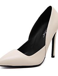 Feminino-Saltos-Saltos / Conforto / Inovador / Plataforma Básica / Sapatos com Bolsa Combinando / Rasos-Salto Agulha-Preto / Vermelho /