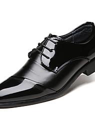 britische Männer lederne Schuhe des Geschäfts Spitzen-up-Hochzeit Schuhe schwarz 38-43