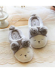 Unisex Slippers & Flip-Flops Fall Winter Comfort Cotton Casual Flat Heel Animal Print Gray Beige Others