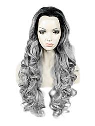 Spitze-Perücke Perücken für Frauen Grau Kostüm Perücken Cosplay Perücken