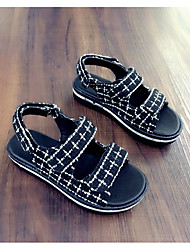 Unisex Sandals Summer Sandals Customized Materials Casual Flat Heel Others Black Others