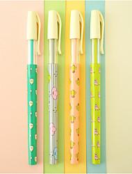 10 pcs pur et un stylo à bille encre bleue saison fraîche