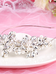 Bride's Silver Crystal Wedding Hair Accessories Headbands Headpiece Hair Band 1 PC