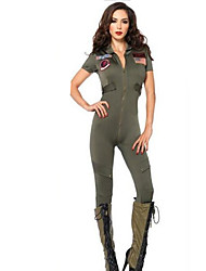 Women's  Navy Jumpsuit Fancy Dress Costume