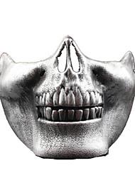 Artigos de Halloween Esqueleto/Caveira Trajes da Noite das Bruxas Dourado / Prateado Patchwork / Estampado Máscara Dia Das Bruxas Unisexo